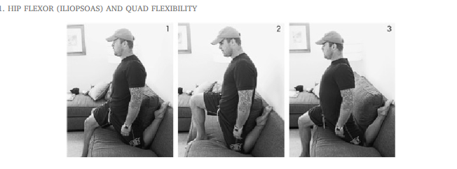 hip flexor stretch t country